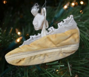 baby shoe ornament