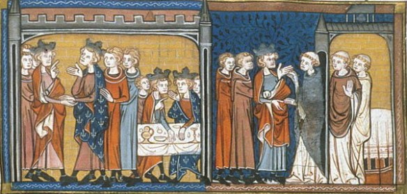 Henry III visiting Louis IX France