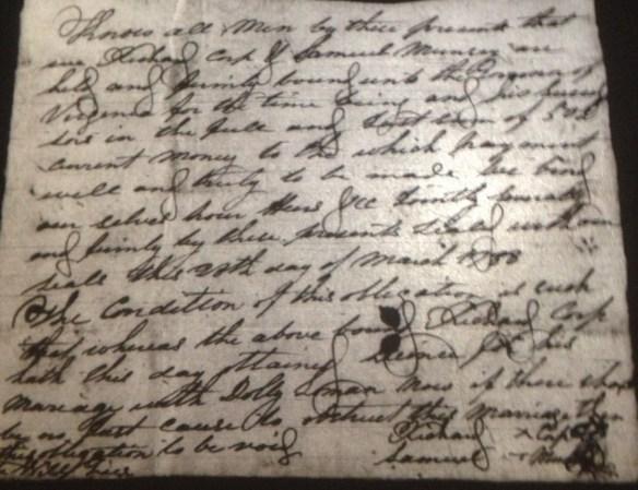 1788 Richard Coop bond
