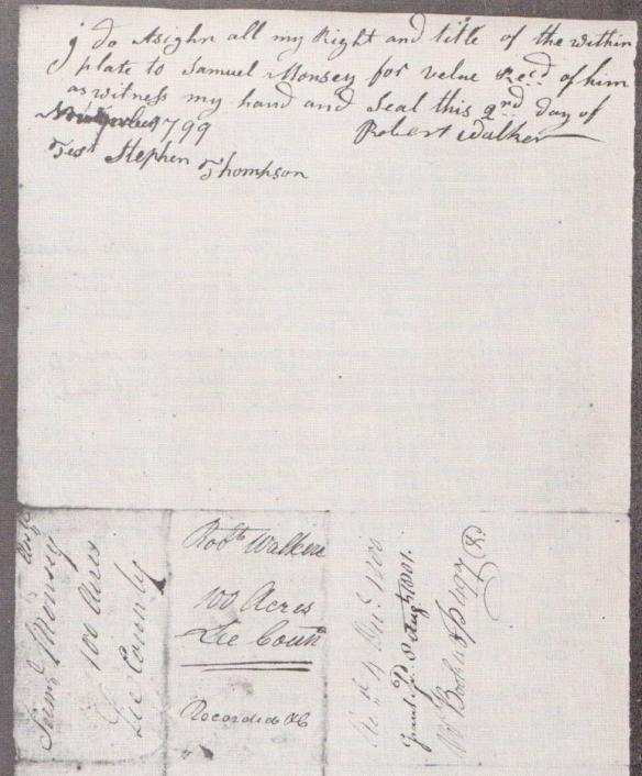 1799 survey Walker to Muncy