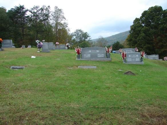 Creech cemetery view