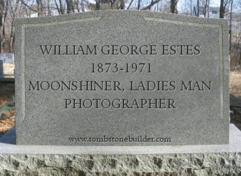 William George Estes tombstone