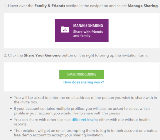 23andme dna share request