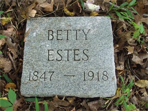 Elizabeth Estes stone
