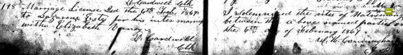 Elizabeth Vannoy Lazarus Estes marriage crop