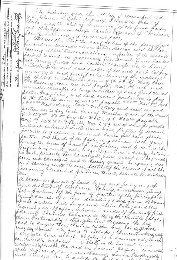 Lazarus Elizabeth 1915 deed