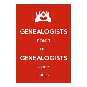 Genealogists copy trees