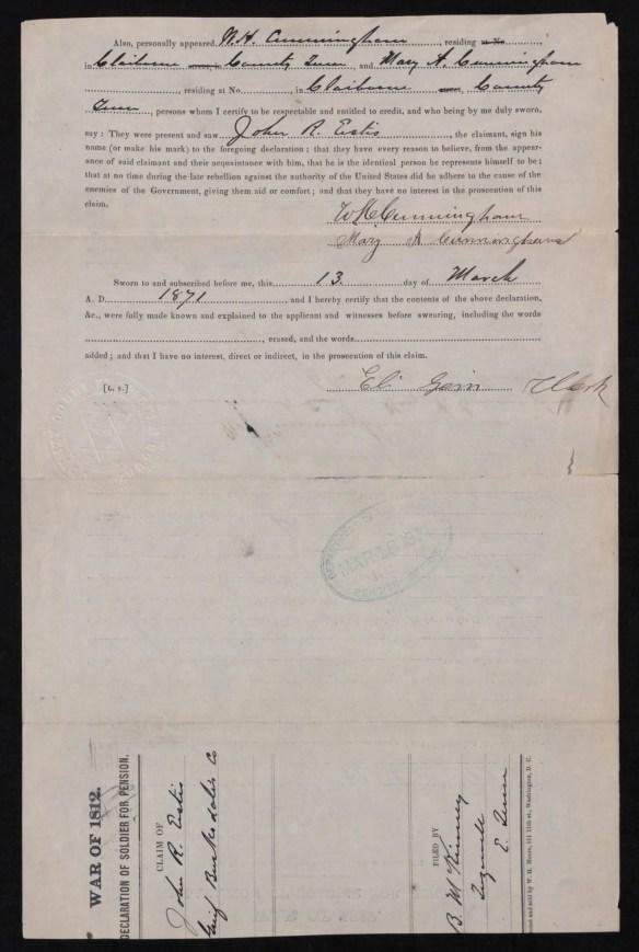 John R. Estes Cunningham signature