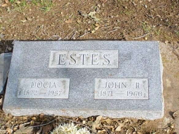 John Reagan Estes stone