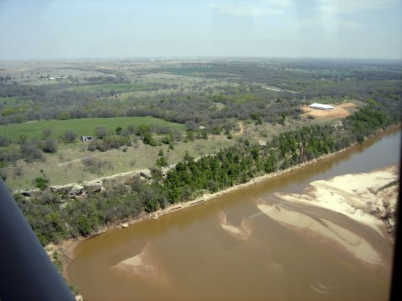 Ketchum Bluff aerial