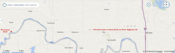 Ketchum Bluff map