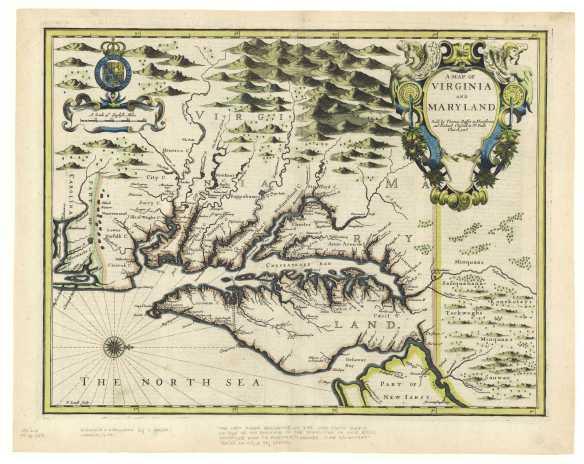 1676 Virginia Map
