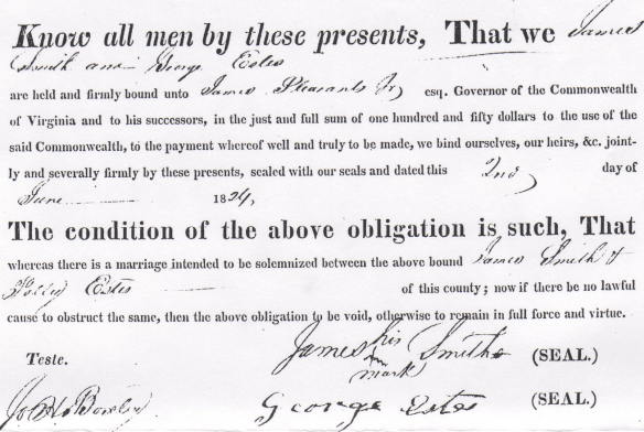 George Estes Polly marriage bond