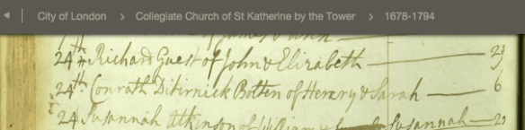London Conrath Bolton birth 1765