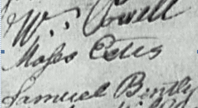 Moses EStes 1782 signature crop