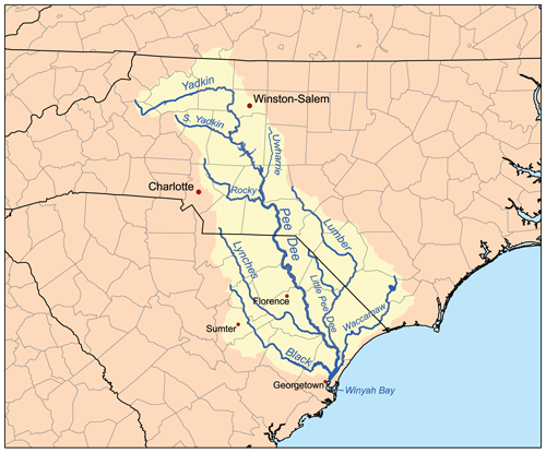 Yadkin watershed