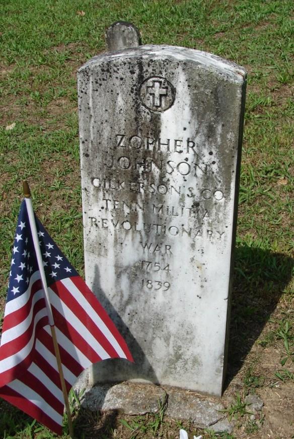 Zopher Johnson 1754 cemetery stone