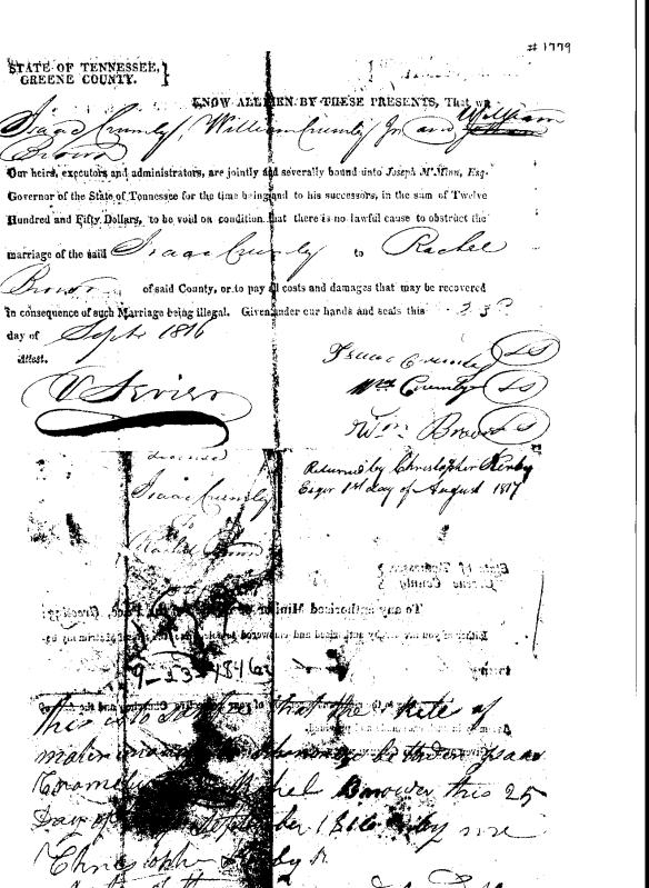 Isaac Crumley 1816