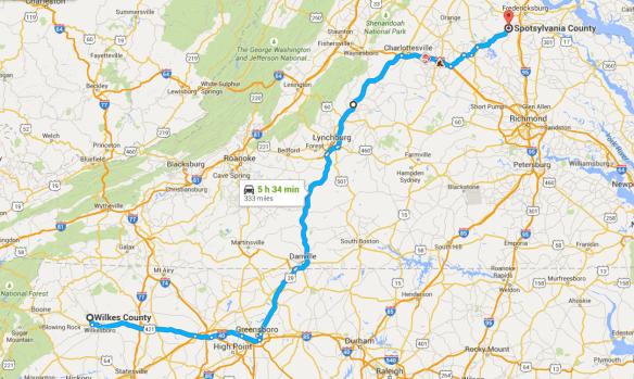 Spotsylvania to Wilkes