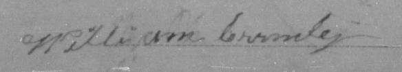 William Crumley Civil War signature