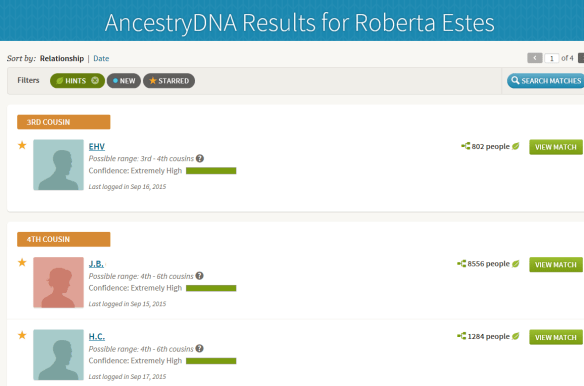 confidence ancestry matches