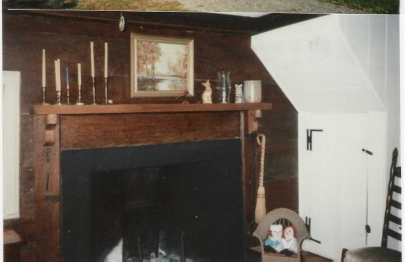 James Crumley home fireplace