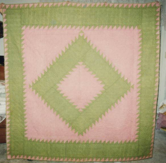 Nora's pink and green quilt