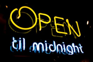 Open till midnight
