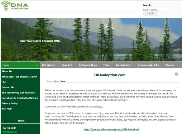 DNAadoption page