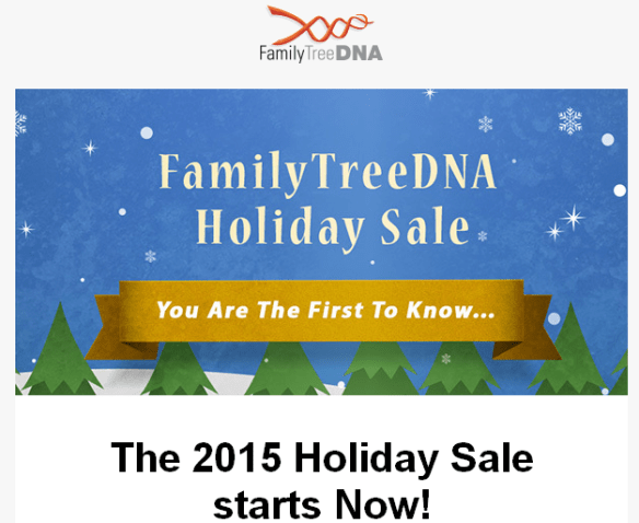 2015 FTDNA Holiday Sale