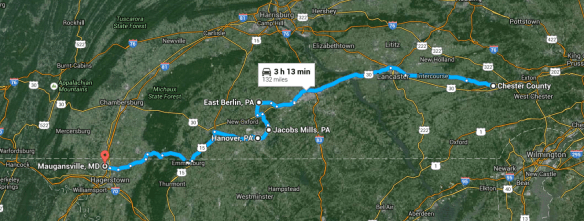 Chester Co to Maugansville
