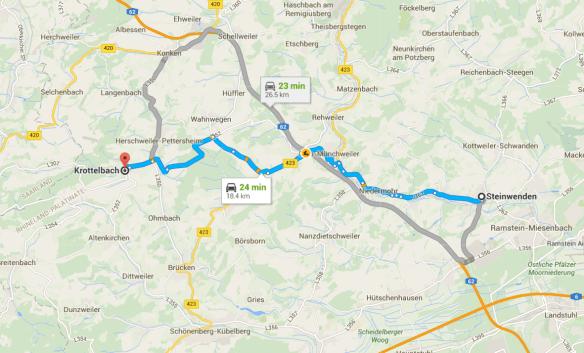 Krottelbach Steinwenden map