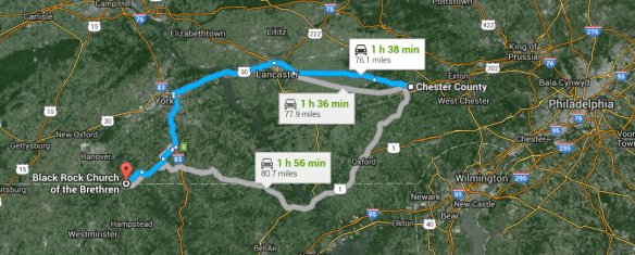 Chester Co to Little Conewago