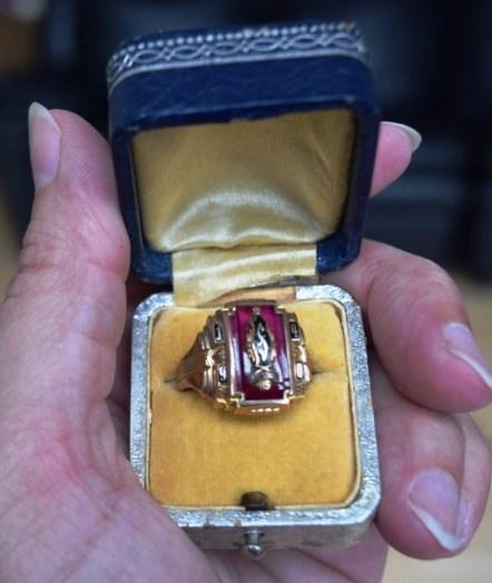 Frank's ring in box