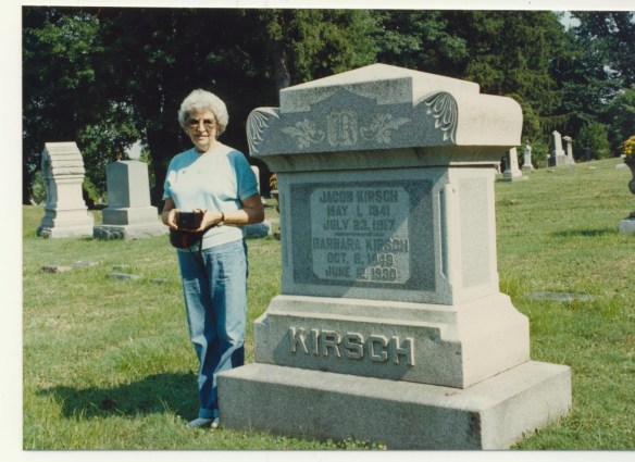 Jacob Kirsch stone with mother