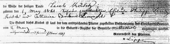 Kirsch, Jacob 1841