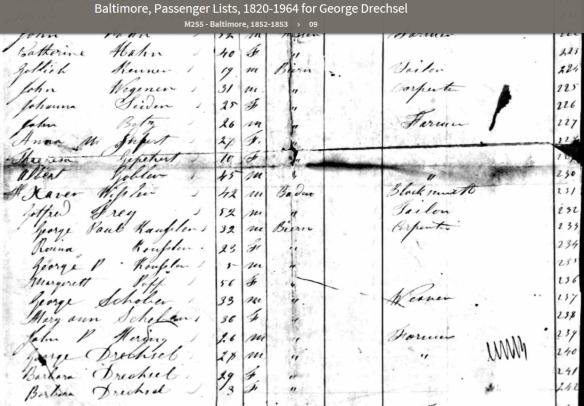 Drechsel passenger list 2
