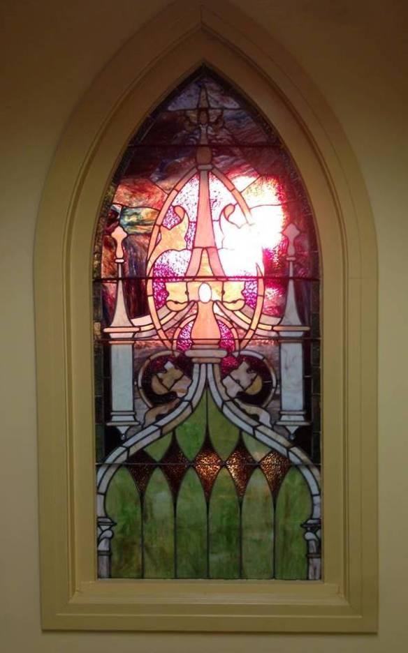 St. John inside window