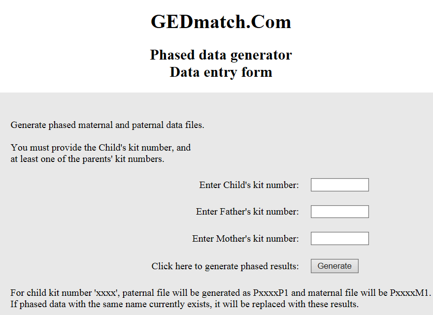 Creating a Phased Parental Kit at GedMatch | DNAeXplained – Genetic