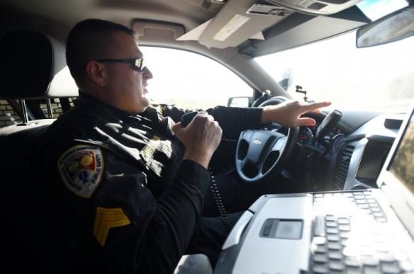 radio in squad car