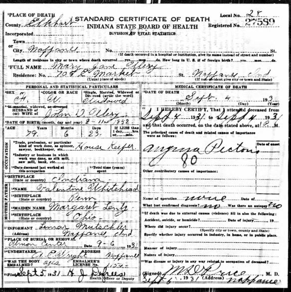 Margaret Lentz Mary Jane Whitehead death