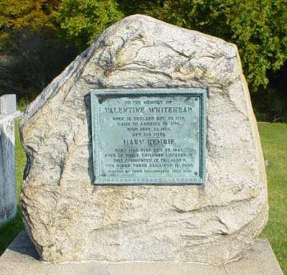 Margaret Lentz Whitehead memorial