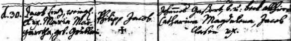 Lenz, Philip Jakob birth