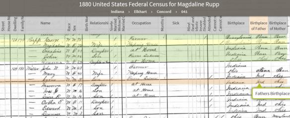 Philip Jacob Miller Bible 1880 census