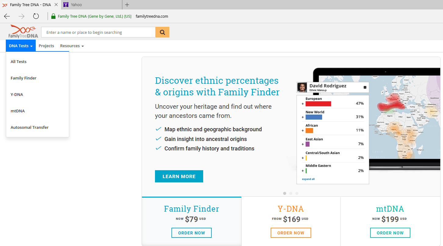 Family Tree DNA Now Accepts All Ancestry Autosomal Transfers Plus