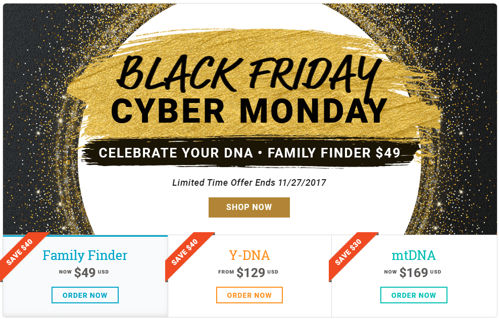 Black Friday, Holiday and DNA Sales by Any Other Names