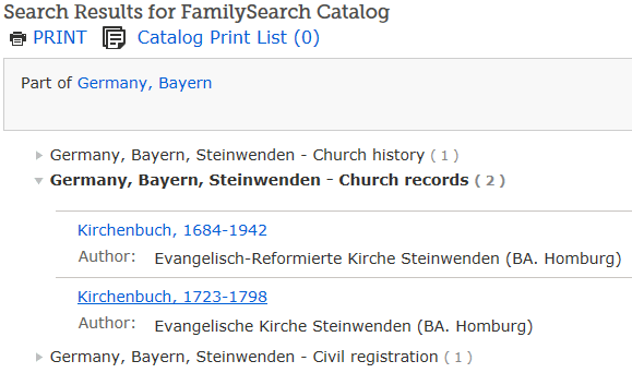 familysearch kirchenbuch