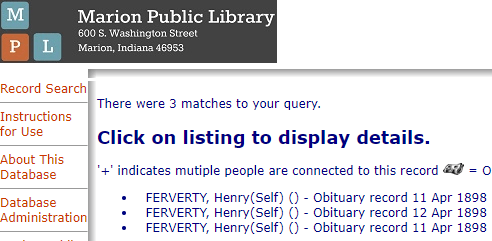Henry Ferverty Marion Library