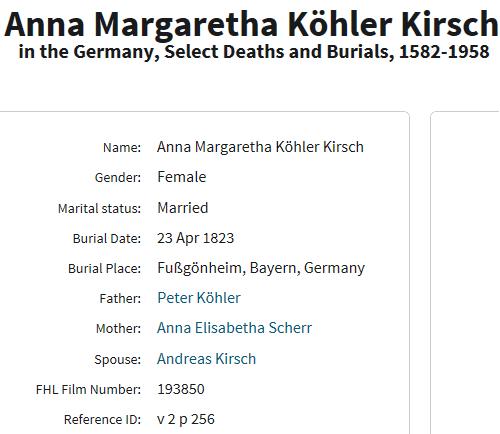 Margaretha Koehler death