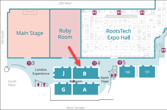 Rootstech 2019 Ballroom B location